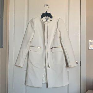 NWOT H&M white coat
